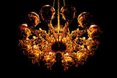 Golden chandelier — Stock Photo
