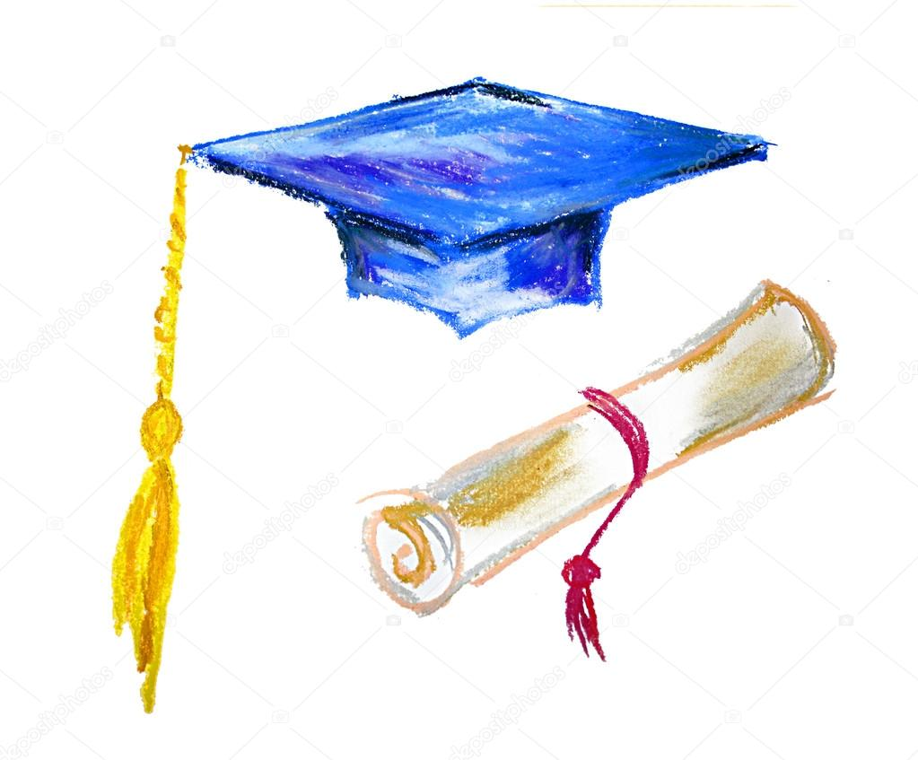 Graduation cap and diploma — Stock Photo © lenanet #16763643