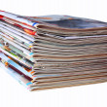 Pile of magazines — Stock Photo #16771755