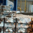 Ingots in factory — Stock Photo
