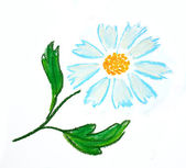 Blue flower illustration — Stock Photo
