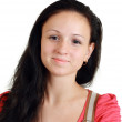 Smiling young woman without make-up — Stock Photo