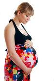 Güzel bir hamile kadın — Stok fotoğraf