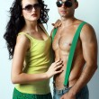 Sexy stylish young couple — Stock Photo #16801085