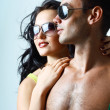 Sexy stylish young couple — Stock Photo #16824827
