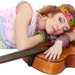 Woman in hippie outfit sleeping — Stock Photo