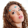 Hippy art make up — Stock Photo