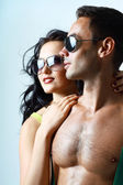 Sexy stylish young couple — Stock Photo