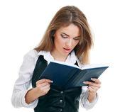 Young reading woman — Fotografia Stock