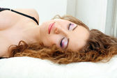 Beautiful young woman sleeping — Stock Photo