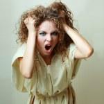 Insane woman screaming — Stock Photo