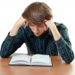 Bored and tired student - Stock Photo