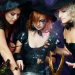 Three halloween witches — Stockfoto #17658809
