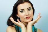Arabic bright make-up — Stock Photo