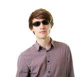 Handsome man in sunglasses — Stock Photo