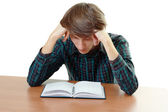 Bored and tired student — Stock Photo