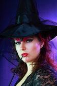 Vackra misteriouse kvinna — Stockfoto