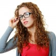 Stock Photo: Young woman in eyeglasses