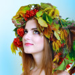 Brunette Autumn Woman — Stock Photo