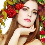 Brunette Autumn Woman — Stock Photo #17661983