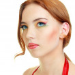 Fashion woman model with bright make-up — Stock Photo