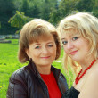 Senior Woman And Adult Daughter — Stockfoto