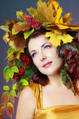 Autumn Woman — Photo