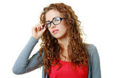 Young woman in eyeglasses — Stock Photo