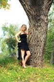 Plus grootte model meisje — Stockfoto