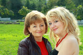 Senior Woman And Adult Daughter — Stock Photo