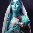 Royalty-Free Stock Photo: Corpse bride under blue moon light