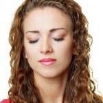 Beautiful woman face close up — Stock Photo