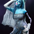 Stock Photo: Corpse bride under blue moon light