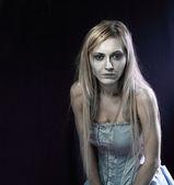 Beautiful zombie corpse bride — Stock Photo