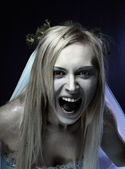 Angry zombie corpse bride — Stock Photo