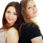 Attractive girl friends — Stock Photo