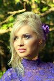 Rostro de la joven hermosa — Foto de Stock