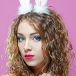 Sexy bunny girl - Stock Photo