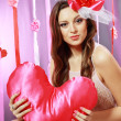 Beautiful Valentine woman — Stock Photo #21449661