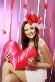 Güzel Sevgililer kadın — Stok fotoğraf