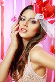 Beautiful Valentine woman — Stock Photo