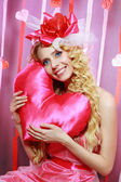 Beautiful Valentines woman — Stock Photo
