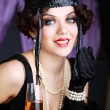 Stock Photo: Retro flapper style