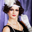 Retro flapper style - Foto Stock
