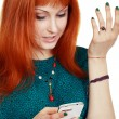 Woman have problem with mobile — Stock Photo #23318882