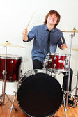 Drummer man — Foto Stock