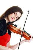 Violinist girl — Stockfoto
