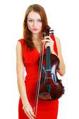 Violinist girl — Stock Photo