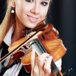 Violinist girl — Stock Photo