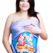 Royalty-Free Stock Photo: Pregnant woman with body art